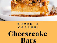 Pumpkin Caramel Cheesecake Bars with a Streusel Topping