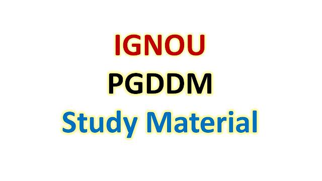 IGNOU PGDDM Study Material