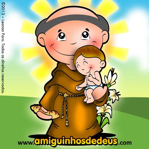 14821fd2e51 Desenho de Santo Antônio para colorir ~ Amiguinhos de Deus