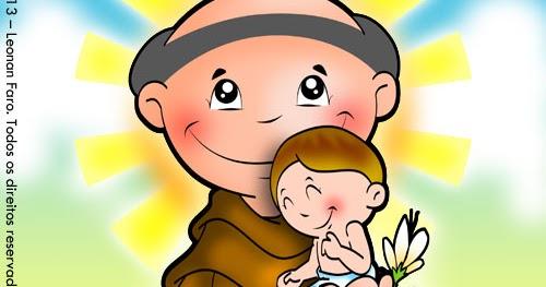Desenho De Santo Antonio Para Colorir Amiguinhos De Deus