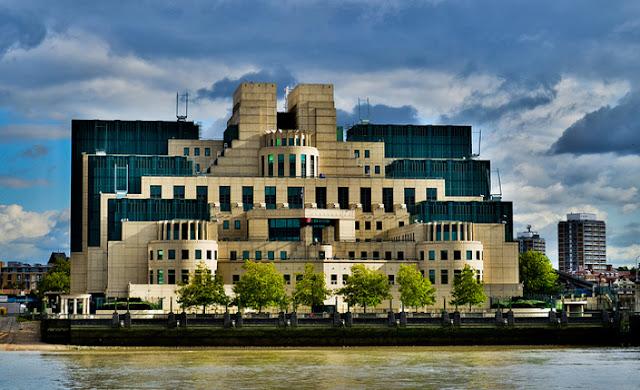 The MI6 headquarters in London,UK