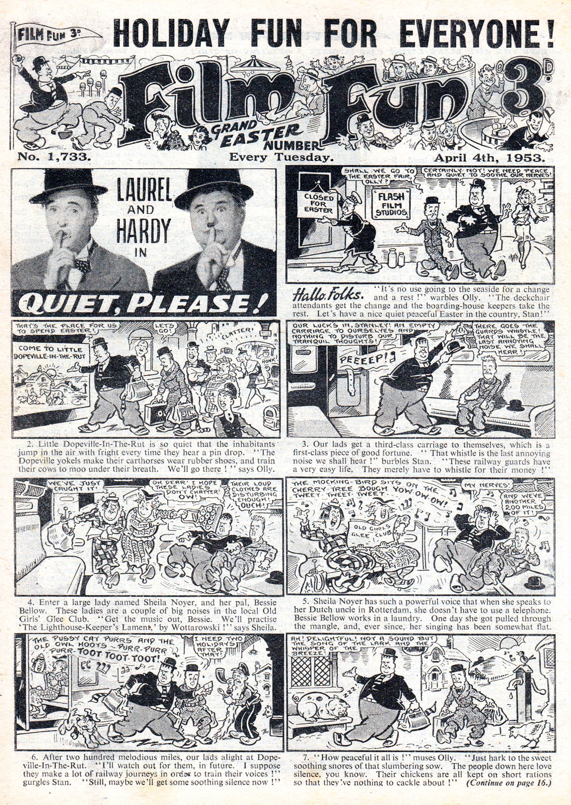 7 Muses Comics film fun - easter 1953 - news uk