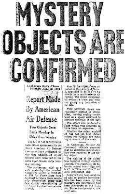 Mystery Objects Are Confirmed (Pt 1) – Anchorage Daily Times 2-16-1960