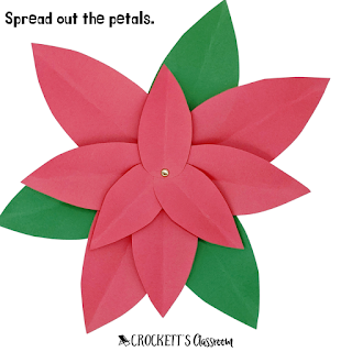 Your kids will love making these super simple Christmas flowers to decorate your classroom or home.