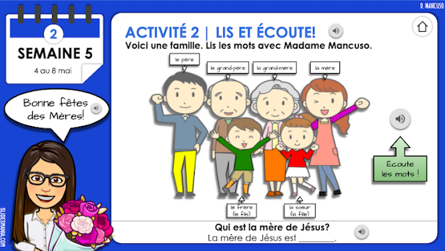 Interactive French Activities for Distance Learning using Google Slides