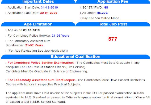 OSSC Various Post Online Job Apply 2020