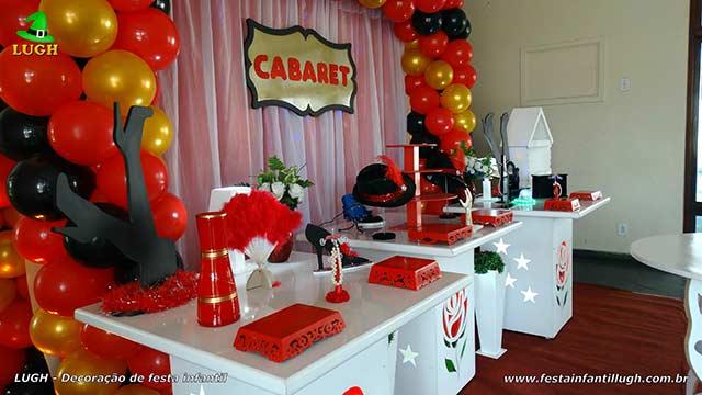 Cabaré ou Cabaret - Decoração de aniversário