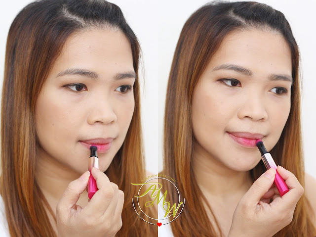 A photo on how to apply L'Oreal Tint Caresse