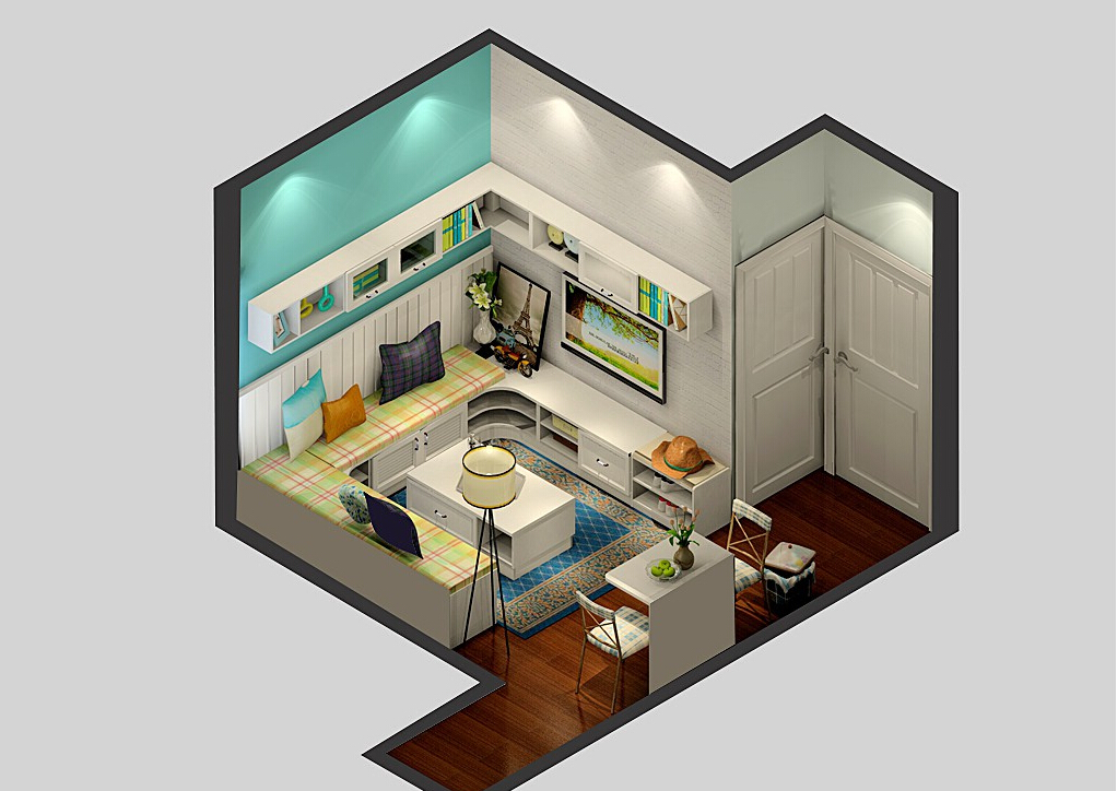 Small-house-design-rustic-Korea 35 Sky View 4D American House Plan Styles Interior