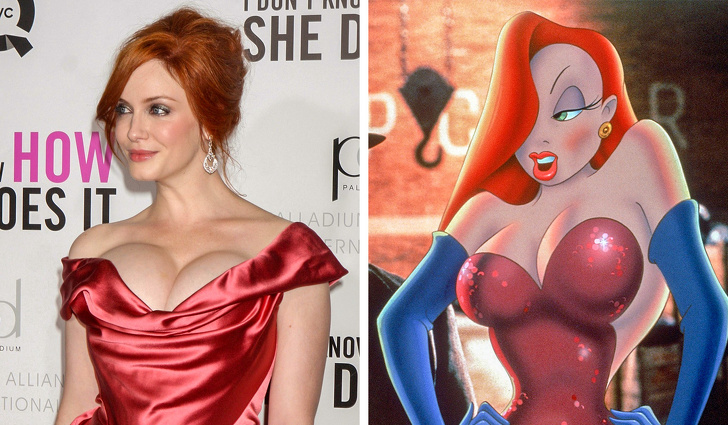 Jessica Rabbit from Rabbit Roger was created thanks to Christine Hendrix.