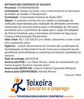 edital concurso Delegado Policia Civil de Goiás anuncia