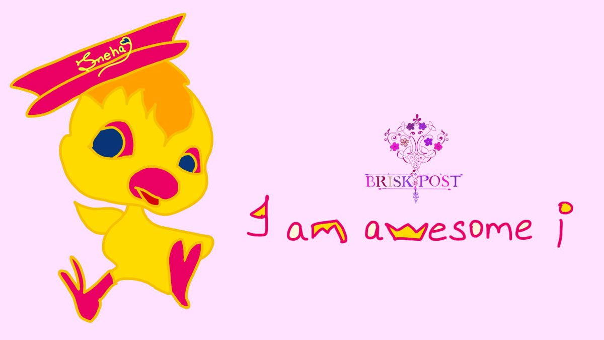 Being unique: Cartoon tweety in cap saying, I am awesome!