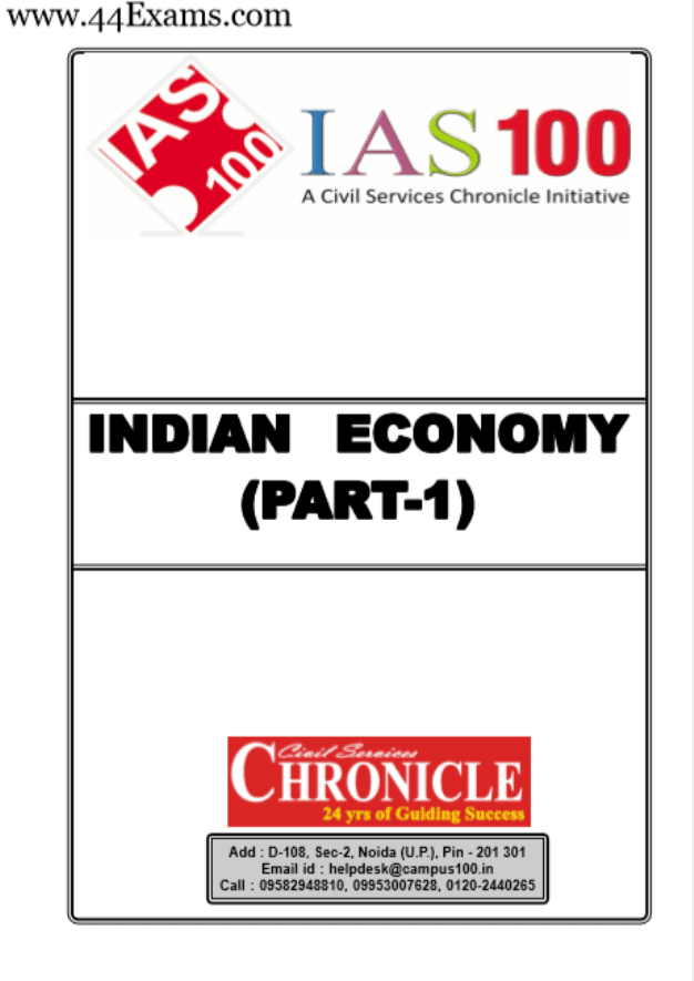 Indian-Economy-Part-I-and-II-by-Chronicle-IAS-Academy-For-UPSC-Exam-PDF-Book