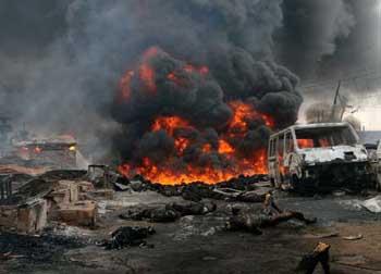 Lekki Massacre: Hoodlums storm TVC in lagos, set properties on fire