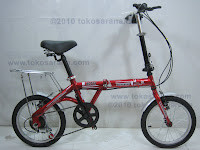 A 16 Inch DoesBike 1605 Rotex 6 Speed Shimano with Carrier