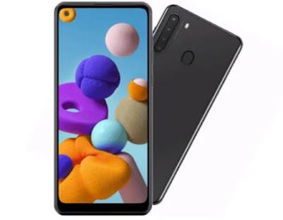 هاتف سامسونج Galaxy A21-2020 مع 4 كاميرات وسعر رخيص