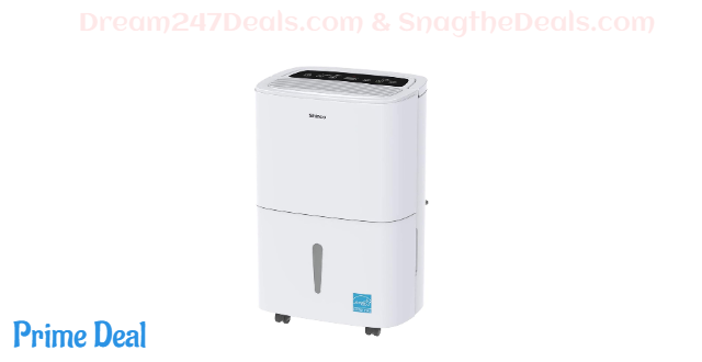 SHINCO 1,500 Sq. Ft. Dehumidifier, Energy Star Rated, for Medium Rooms and Basements, Continuous Gravity Drain, with Wheels, Quietly Remove Moisture Medium - New 24 Pint 2019 DOE (30 Pint 2012 DOE)