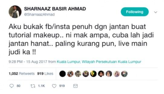 Gara-Gara Tweet Ini, Sharnaaz Ahmad Dikecam Teruk Netizen