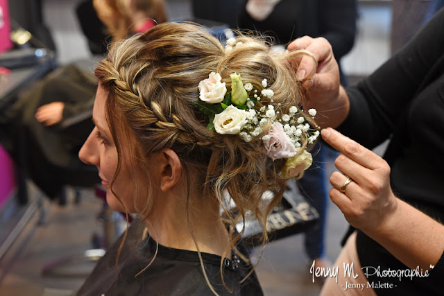 photo chignon mariée