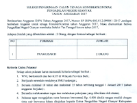 Penerimaan Tenaga Kontrak Pengadilan Negeri Gianyar Tahun Anggaran 2017