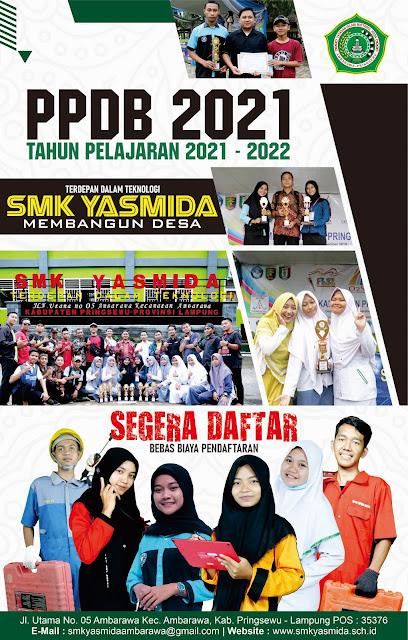 Download Desain Brosur PPDB SMK Yasmida Ambarawa 2021