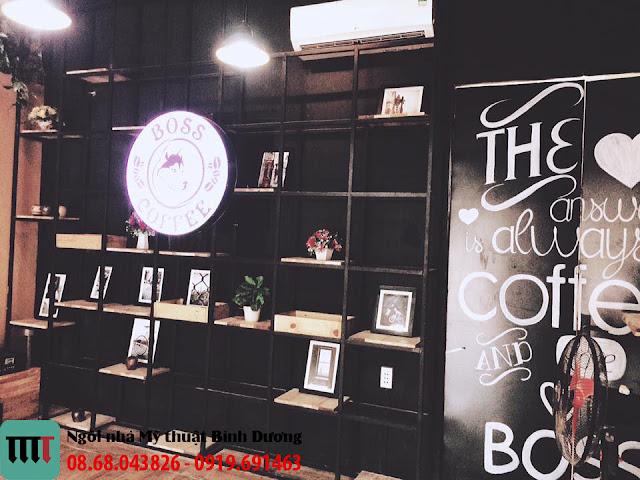 Thiet ke va thi cong quan cafe Boss tai Binh Duong