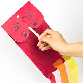 Chinese New Year Dragon Kite Puppet