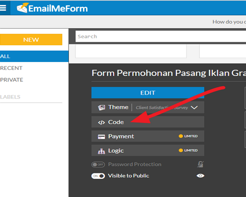 Cara Membuat Formulir Pendaftaran Dengan Email Me Form