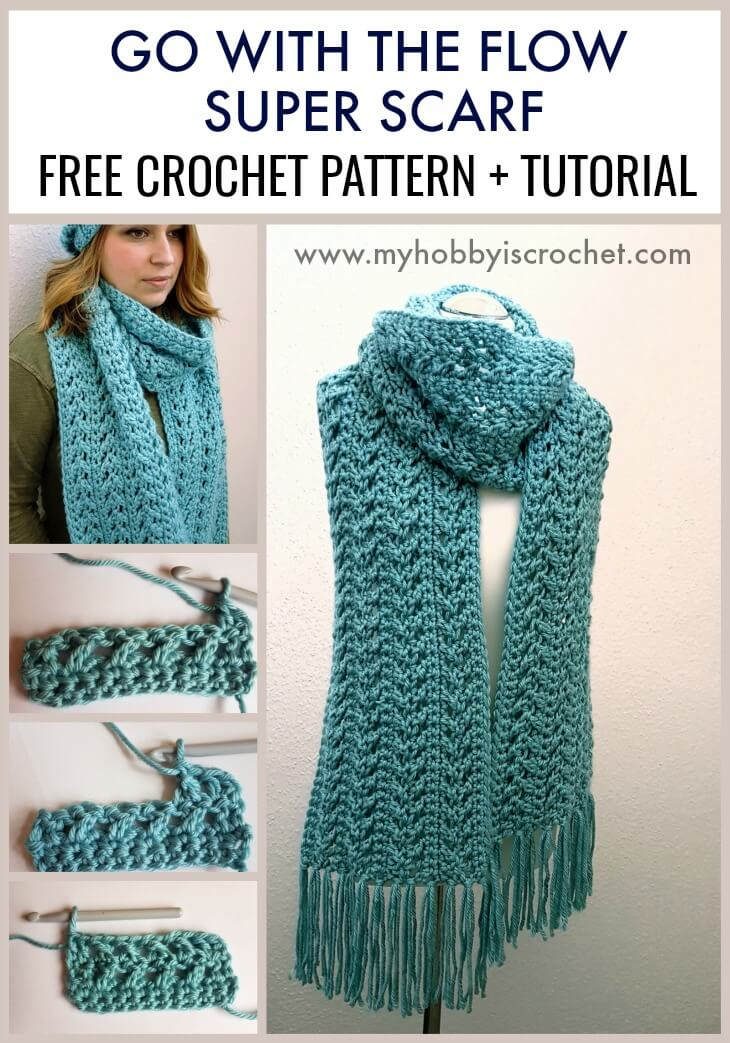 Go with The Flow Super Scarf - Free Crochet Pattern + Tutorial