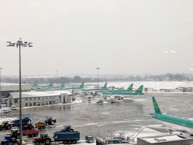 Dublin Airport during the Beast from the East Storm
