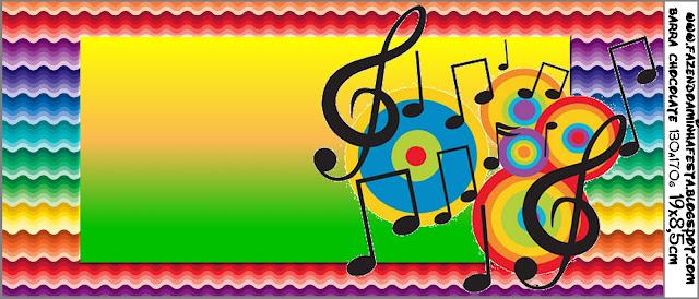 Tarjetas De Invitación De Cumpleaños Con Notas Musicales