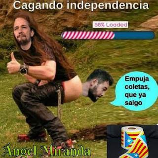 Cagando independencia, Coletas, Pablo Iglesias, Rufián