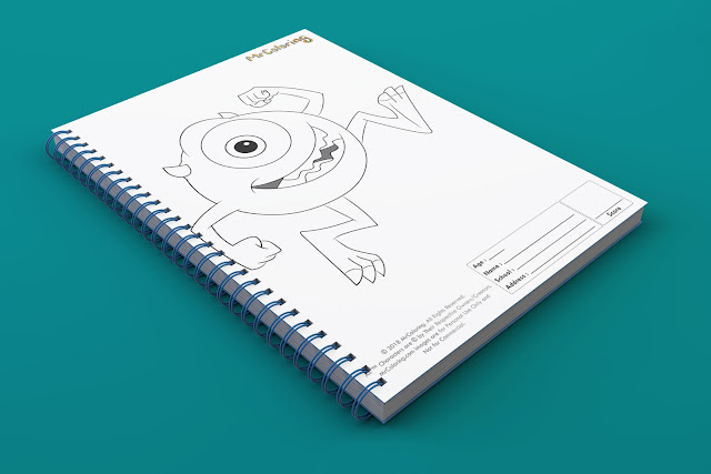 printable monster inc template outline coloriage Blank mike wazowski Character Disney coloring pages book pdf pictures to print out for kids to color fun colouring page child
