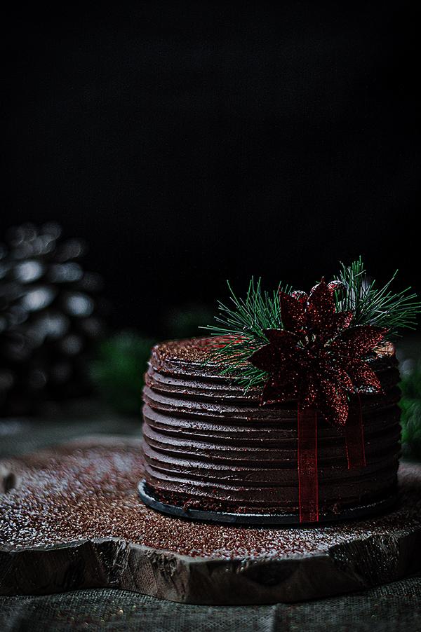 Tarta de Navidad de Chocolate, galleta y nueces -TuvesyyoHago
