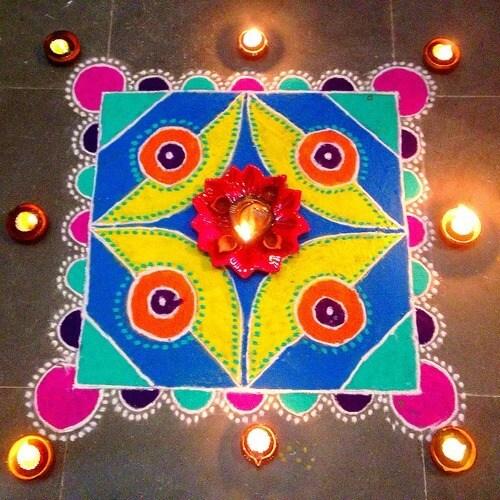 Easy {*Best*} Rangoli Designs for Diwali: Freehand 2017 Flowers, Stencils