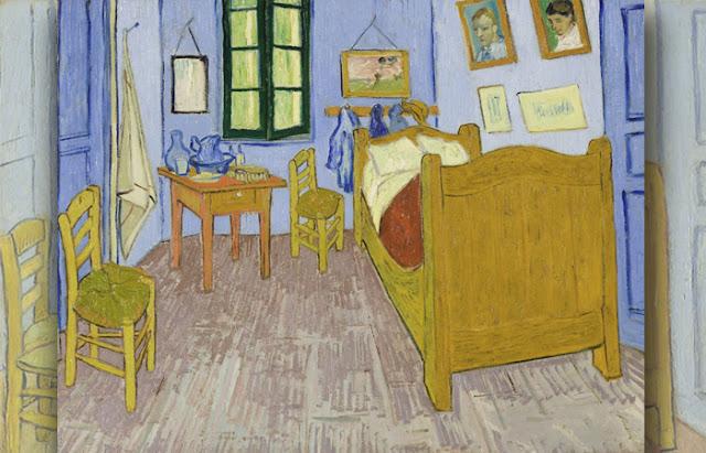 O Quarto em Arles, terceira versão, final de setembro de 1889 Óleo sobre tela, 57,5 x 74 cm, Musée d'Orsay, Paris