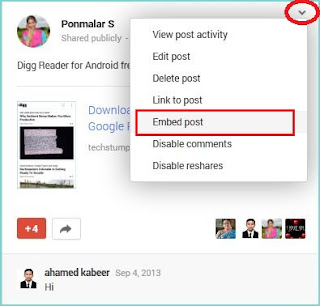 How to Embed Google+ posts to your Website
