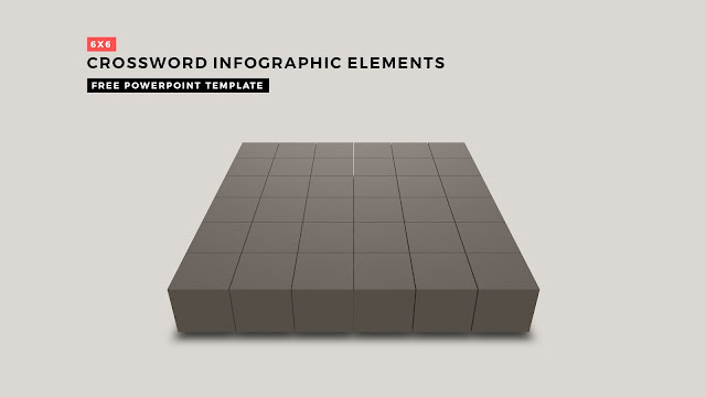 Crossword Puzzles Infographic Elements with 6x6 Basic Frame for PowerPoint Templates