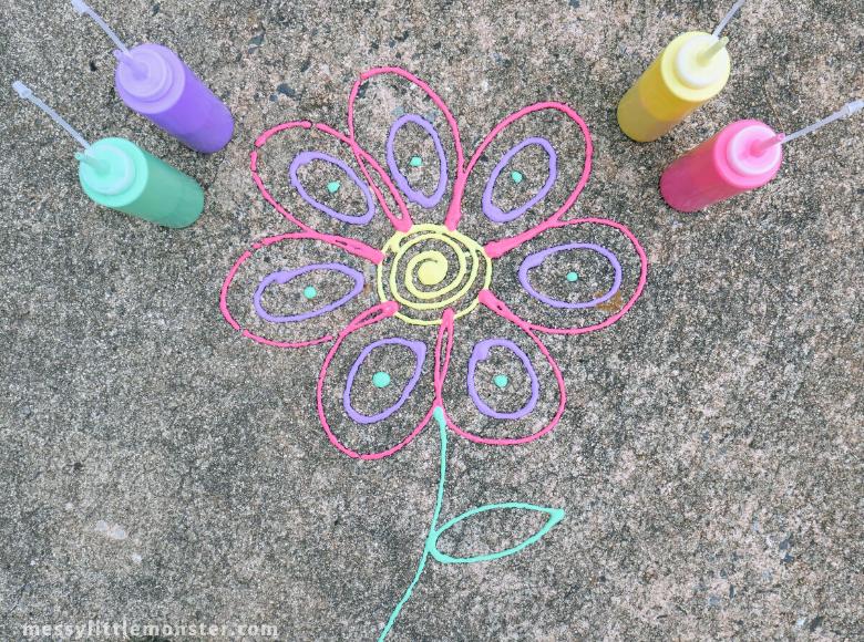 Outdoor puffy paint - summer camp ideas