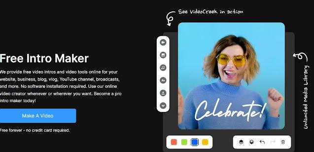شرح موقع videocreek لتحويل النص الى فيديو والحصول على انترو احترافي