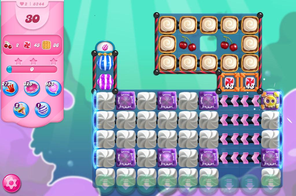 Candy Crush Saga level 8244