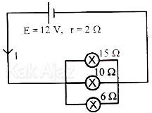 Rangkaian listrik dengan tiga hambatan luar tersusun paralel