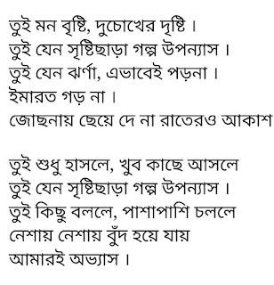 Tui Mon Brishti Lyrics Arpan Karmakar