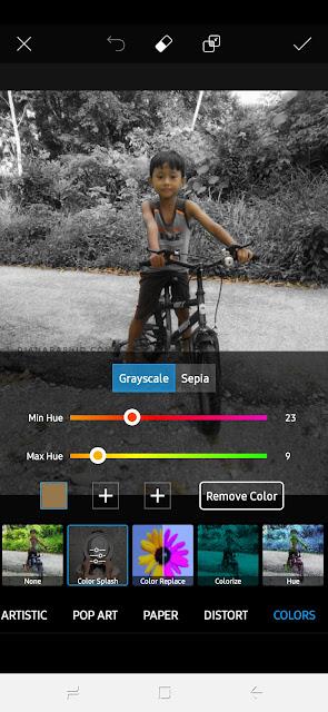 Tutorial Edit Gambar Guna Picsart Supaya Ada Satu Colour Saja