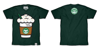 "Starbucks ""Pumpkin Spice Big Kid Latte"" T-Shirt by Johnny Cupcakes"