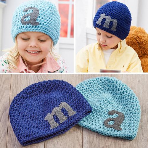 Crochet Letter Hats - Free Pattern