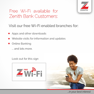 How To Enjoy Free Wi-Fi Browsing In LUTH & Other Zenith Bank Branches