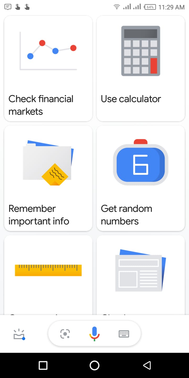 Google assistant task list by webofinfo
