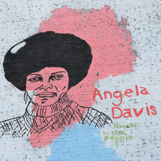 Angela Davis mural, Avondale neighborhood, Birmingham, Alabama. December 2020.