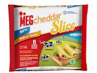 MEG Cheddar Slice 8: Keju Cheddar Praktis Tinggal Lahap